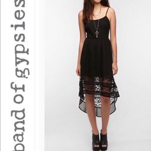 Band of Gypsies Lace High Low Dress